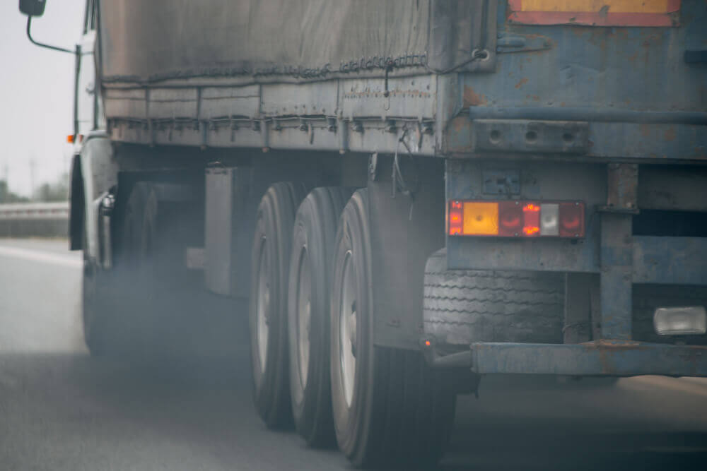 Exhaust fumes make your truck noticeable to law enforcement.