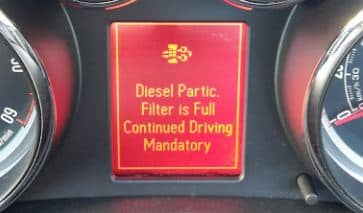 DPF is full continue driving