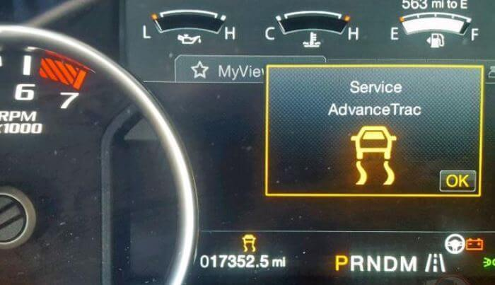 What Does Service Advancetrac Mean on dashboard