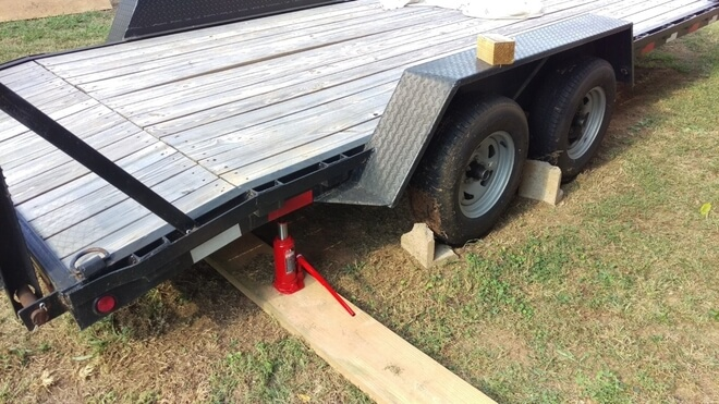 secure trailer for blocking plate