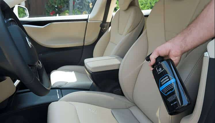 pleather car seat cleaning
